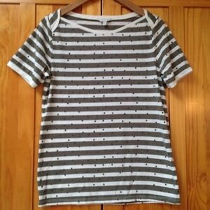 Lucky Brand | Boat Neck Stripes Tee shirt